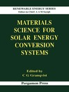 Materials Science for Solar Energy Conversion Systems (eBook)