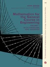 Mathematics for the General Course in Engineering, Volume 1 (eBook): The Commonwealth and International Library of Science, Technology, Engineering and Liberal Studies, General Engineering Division