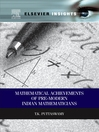 Mathematical Achievements of Pre-modern Indian Mathematicians (eBook)