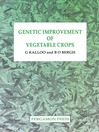 Genetic Improvement of Vegetable Crops (eBook)