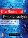 Data Mining and Predictive Analysis (eBook): Intelligence Gathering and Crime Analysis