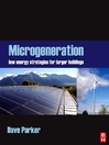 Microgeneration (eBook): : Low energy strategies for larger buildings