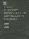 Elsevier's  Dictionary of Automation Technics (eBook): In English, German, French and Russian