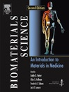Biomaterials Science (eBook): An Introduction to Materials in Medicine