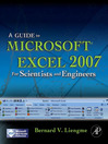 A Guide to Microsoft Excel 2007 for Scientists and Engineers (eBook)