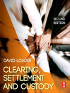 Clearing, Settlement and Custody (eBook)