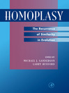 Homoplasy (eBook): The Recurrence of Similarity in Evolution