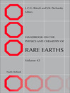 Handbook on the Physics and Chemistry of Rare Earths (eBook)