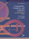 Computability, Complexity, and Languages (eBook): Fundamentals of Theoretical Computer Science