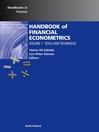 Handbook of Financial Econometrics, Vol 1 (eBook): Tools and Techniques