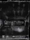 Criminal Profiling (eBook): An Introduction to Behavioral Evidence Analysis