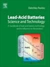 Lead-Acid Batteries (eBook): Science and Technology: Science and Technology