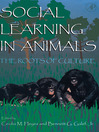 Social Learning In Animals (eBook): The Roots of Culture