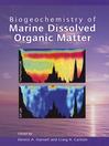 Biogeochemistry of Marine Dissolved Organic Matter (eBook)
