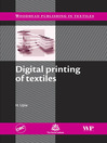 Digital Printing of Textiles (eBook)