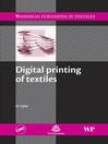 Digital Printing of Textiles (eBook)