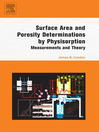 Surface Area and Porosity Determinations by Physisorption (eBook): Measurements and Theory