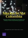 Mexico Is Not Colombia (eBook): Alternative Historical Analogies for Responding to the Challenge of Violent Drug-Trafficking Organizations