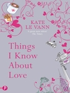 Things I Know About Love (eBook)