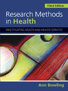 Research Methods in Health (eBook): Investigating Health and Health Services