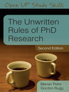 The Unwritten Rules of PhD Research (eBook)