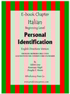 Personal Identification (eBook): Reproducible Thematic Unit in Italian with English Directions