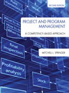Project and Program Management (eBook): A Competency-Based Approach