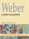 La política como profesión (eBook)