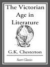 The Victorian Age in Literature (eBook)