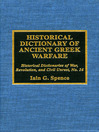 Historical Dictionary of Ancient Greek Warfare (eBook)
