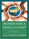 Words for a Small Planet (eBook): Ecocritical Views