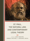 St. Paul, the Natural Law, and Contemporary Legal Theory (eBook)