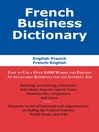 French Business Dictionary (eBook): The Business Terms of France and Canada