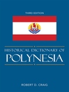 Historical Dictionary of Polynesia (eBook)
