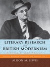 Literary Research and British Modernism (eBook): Strategies and Sources