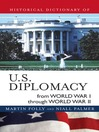 Historical Dictionary of U.S. Diplomacy from World War I through World War II (eBook)