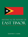 Historical Dictionary of East Timor (eBook)