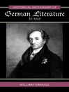Historical Dictionary of German Literature to 1945 (eBook)