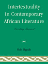 Intertextuality in Contemporary African Literature (eBook): Looking Inward