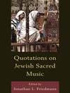 Quotations on Jewish Sacred Music (eBook)