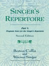 The Singer's Repertoire, Part V (eBook): Program Notes for the Singer's Repertoire