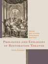 Prologues and Epilogues of Restoration Theater (eBook): Gender and Comedy, Performance and Print
