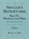The Singer's Repertoire, Part IV (eBook): Baritone and Bass