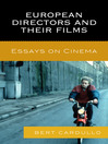 European Directors and Their Films (eBook): Essays on Cinema