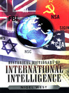 Historical Dictionary of International Intelligence (eBook)