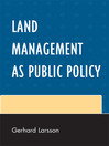 Land Management as Public Policy (eBook)