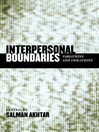 Interpersonal Boundaries (eBook): Variations and Violations