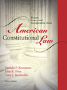 American Constitutional Law, Volume 1 (eBook): Essays, Cases, and Comparative Notes
