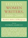 Italian Women Writers, 1800–2000 (eBook): Boundaries, Borders, and Transgression