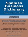 Spanish Business Dictionary (eBook): Multicultural Business Spanish
